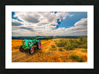 My Green Tractor Picture Frame print