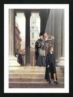Visitors in London by Tissot Picture Frame print