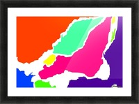 Montreal Map WBG  Picture Frame print