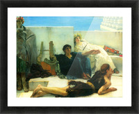 A reading of Homer, detail -1- by Alma-Tadema Picture Frame print