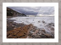 Surf at Pillar Rock Picture Frame print