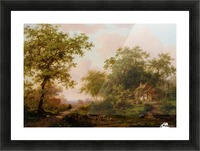 Cattle in Summer Landscape Picture Frame print