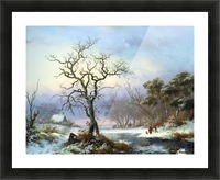 Faggot Gatherers in a Winter Landscape Picture Frame print