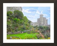Windsor Castle Under Beautiful Blue Skies - Berkshire United Kingdom Picture Frame print