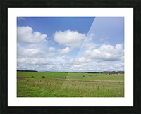 Salisbury Plain on the Road to Stonehenge Picture Frame print