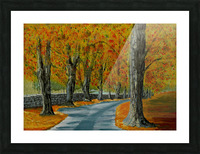 Autumns Pathway Picture Frame print