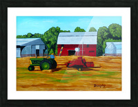 Bailing Hay Picture Frame print