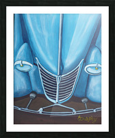 Blue 32  Picture Frame print