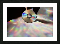 CD Rainbows Picture Frame print