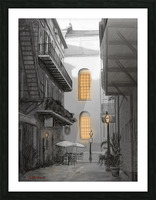 Light in the alley a French quarter scene Picture Frame print