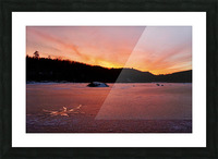 Scenic Fiery North Shore Sunset Picture Frame print