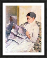 When reading of Figaro by Cassatt Picture Frame print