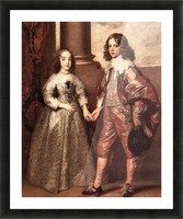 William of Orange with his future bride by Van Dyck Picture Frame print