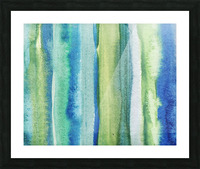 Ocean And Sea Beach Coastal Art Organic Watercolor Abstract Lines I Picture Frame print