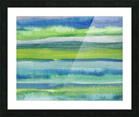 Ocean And Sea Beach Coastal Art Organic Watercolor Abstract Lines II Picture Frame print