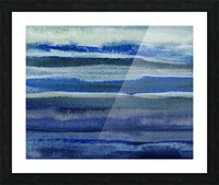 Ocean And Sea Beach Coastal Art Organic Watercolor Abstract Lines III Picture Frame print