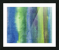 Ocean And Sea Beach Coastal Art Organic Watercolor Abstract Lines IV Picture Frame print