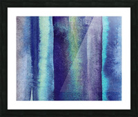 Ocean And Sea Beach Coastal Art Organic Watercolor Abstract Lines V Picture Frame print