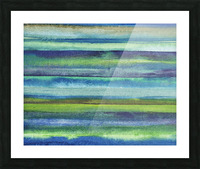 Ocean And Sea Beach Coastal Art Organic Watercolor Abstract Lines VI Picture Frame print