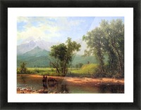 Wind River Mountains, landscape in Wyoming by Bierstadt Picture Frame print