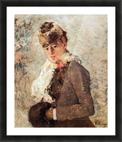 Winter (woman with Muff) by Morisot Picture Frame print