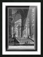 Large Sculpture Gallery Built On Arches by Giovanni Battista Piranesi Classical Fine Art Xzendor7 Old Masters Reproductions Picture Frame print