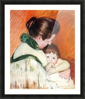 Woman and Child by Cassatt Picture Frame print