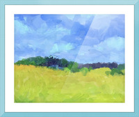 Parkton Landscape in Spring Green Picture Frame print