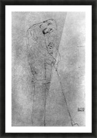 Woman and man standing in profile by Klimt Picture Frame print