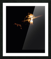 A Light in the Darkness Picture Frame print