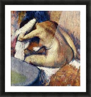 Woman drying hair by Degas Picture Frame print