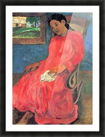 Woman in Red Dress by Gauguin Picture Frame print