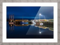 Night Time at the Wharf Picture Frame print