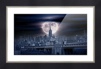 Between The Moon & NYC Picture Frame print