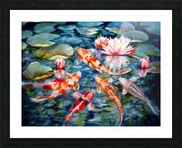 Koi Pond Picture Frame print