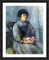 Woman with Doll by Cezanne Picture Frame print