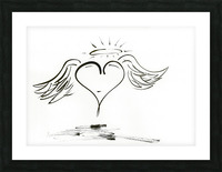2020 heart angel Picture Frame print