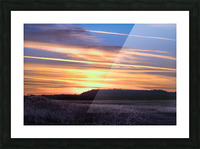 Table Top Mountain Sunset Picture Frame print
