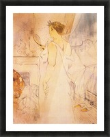 Woman with mirror by Toulouse-Lautrec Picture Frame print
