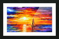 Open Water Picture Frame print