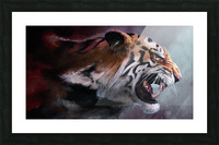 Lunging Tiger Picture Frame print