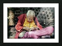 Temple gardener Picture Frame print
