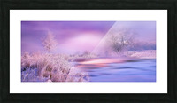 Dreaming In Purple Picture Frame print