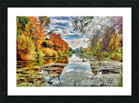 Autumn River Picture Frame print