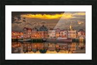 Old Port Of Maasslui   Picture Frame print