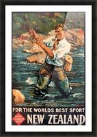 New Zealand Original Vintage Travel Poster Picture Frame print