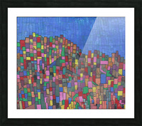 colorfulbuildings Picture Frame print