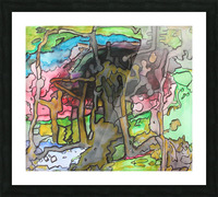 Abstractforest Picture Frame print