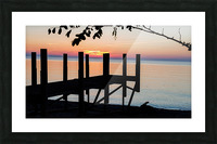 Lake Erie Doc Picture Frame print