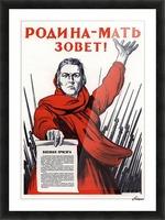 World War Propaganda Russian Original Poster Picture Frame print
